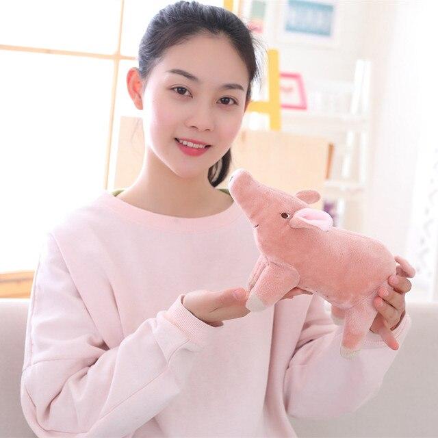 MIAOOWA 1 PC 24 CM Simulação Bonito Algodão Rosa Porco Brinquedo de Pelúcia Macio de alta Qualidade Para Baixo Algodão Novo Dos Desenhos Animados Presentes de Aniversário Para crianças