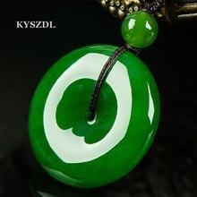 China green  jade peace clasp pendant fashion