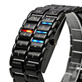 A prueba de agua 2017 nueva moda hombre mujer lava electrónica de segunda generación del binario led reloj de pulsera reloj de pulsera horas