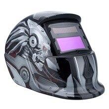 Auto Solar Soldadura Oscurecimiento Automático Casco De Soldadura Soldador Máscara de Protección Solar Máscara Molienda Lente Tig Soldador Máscara (Gris oscuro)