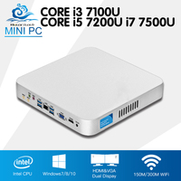 Intel CPU Mini Computer Cooling Fan Core I3 7100U I5 7200U I7 7500U Windows 10 4K