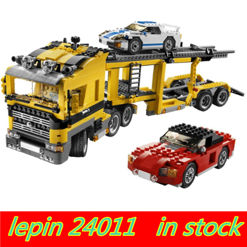 Compatible legoing technic Transport Lepin 24011 lepin Technic Three in One Highway Transport Set Legoing 6753 Building Blocks цены