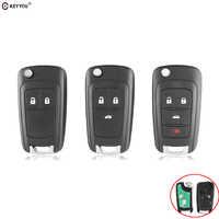 KEYYOU 2/3/4 Buttons 433MHz With ID46 Chip Remote Control Key Fob for Chevrolet Aveo Cruze Orlando HU100 Blade