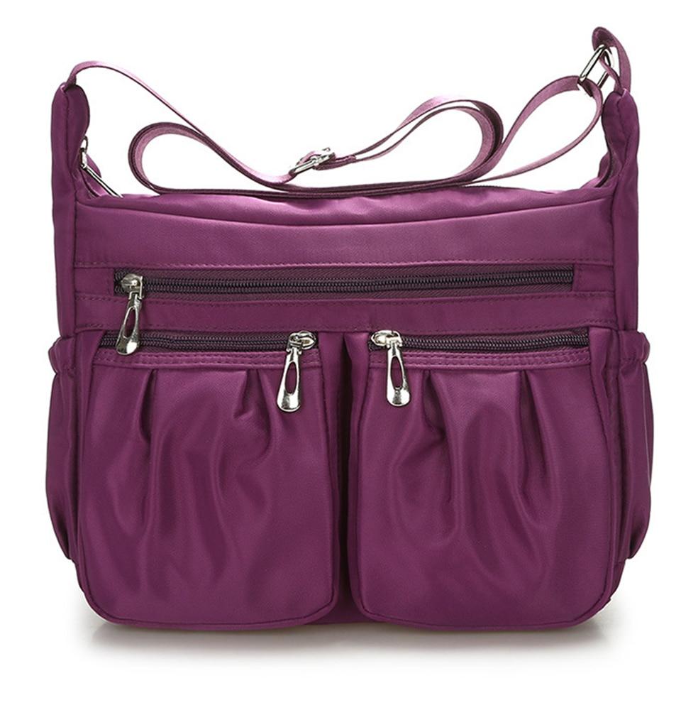 10c12727645e Wulekue Women s Travel Casual Shoulder Bag Female Waterproof Large Capacity  Crossbody Messenger Bags Ladies Nylon Handbag