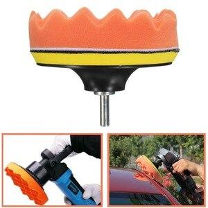 Image 3 - Kit de tampons de polissage pour voiture, 4/5/6/7 pouces (5 tampons de polissage + 1 tampon en laine + 1 tampon de support adhésif)