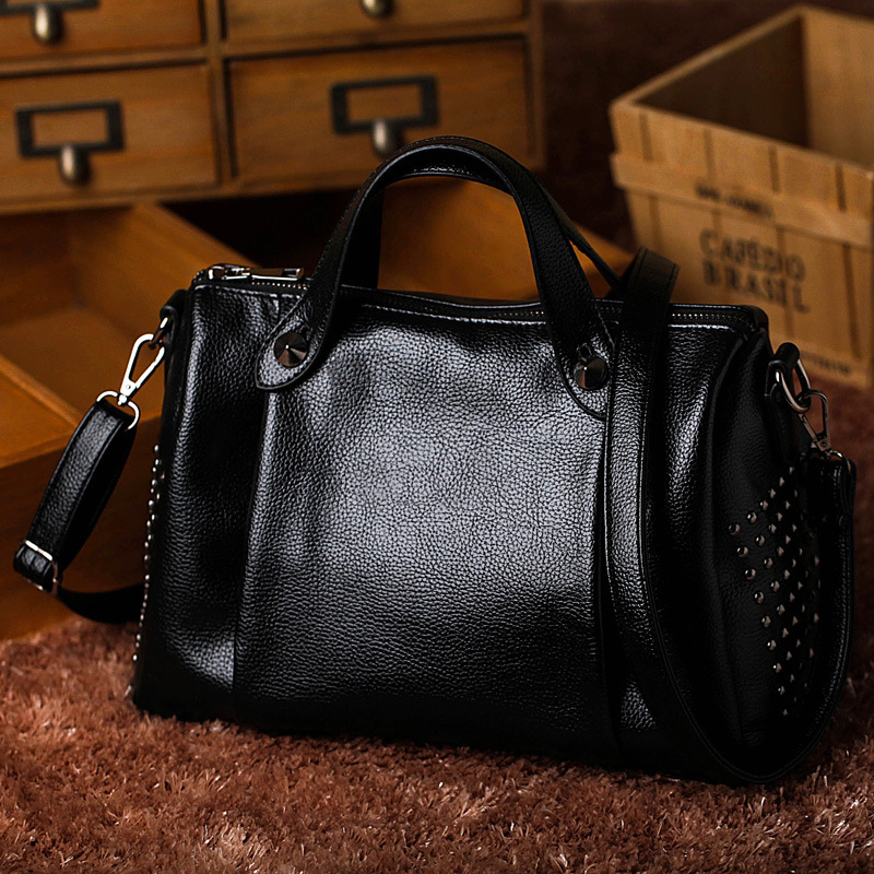 ФОТО New fashion simple big tote bags for women leather handbag famous brands designer large capacity ladies boston messenger bag sac