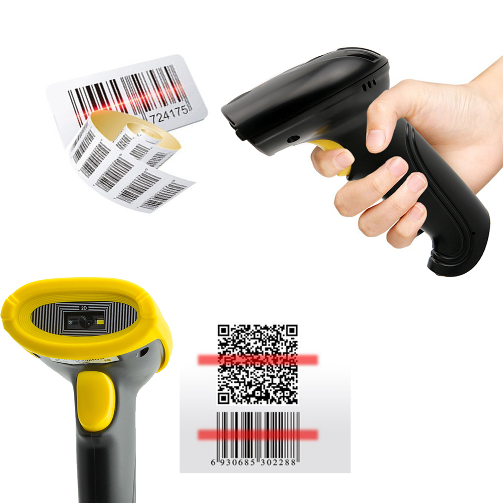 BS2-Y001 Wired USB 2D QR PDF417 Data Matrix Barcode Scanner 1D 2D QR CCD handheld Bar Code Reader Scanner USB 150 scans/sec zebra ds2208 sr handheld 2d omnidirectional barcode scanner imager 1d 2d and pdf417 with usb cable