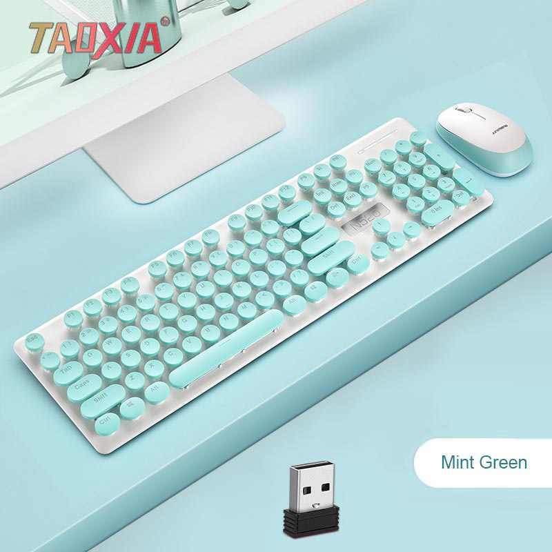 Wired Mouse and Keyboard Set Computer Keyboard Mouse Set Desktop Notebook External Home Office Games Color : Pink