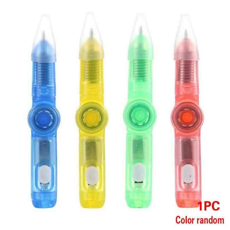 5 piezas de punta de pluma brillante Gyro estudiante descompresión de plástico bolígrafo de barrido de código Push pequeño regalo Accesorios