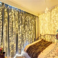 FS ip65 3*(1m 1.5m 3m) ,6*3m LED Curtain Lights Fairy Christmas Lamps Wedding Lights Romantic Garden Deco String Lights AC220V