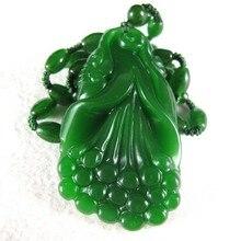 Beautifully Hetian jade Ruyi pendant natural green auspicious jewelry wholesale