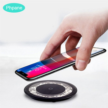 Circle Wireless Charger Inductive Chargeur Induction Charging Qi Wifi Charge Board For Samsung S10 S9 + Iphone Xiaomi mi9 10W/5W