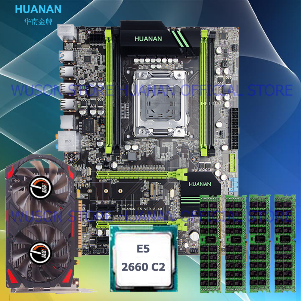 New arrival HUANAN X79 motherboard CPU RAM video card GTX750Ti 2G DDR5 Xeon E5 2660 SROKK RAM 32G(4*8G) DDR3 RECC all tested brand new promotional huanan zhi deluxe x79 motherboard cpu intel xeon e5 2620 srokw ram 32g 4 8g ddr3 1600 recc all tested