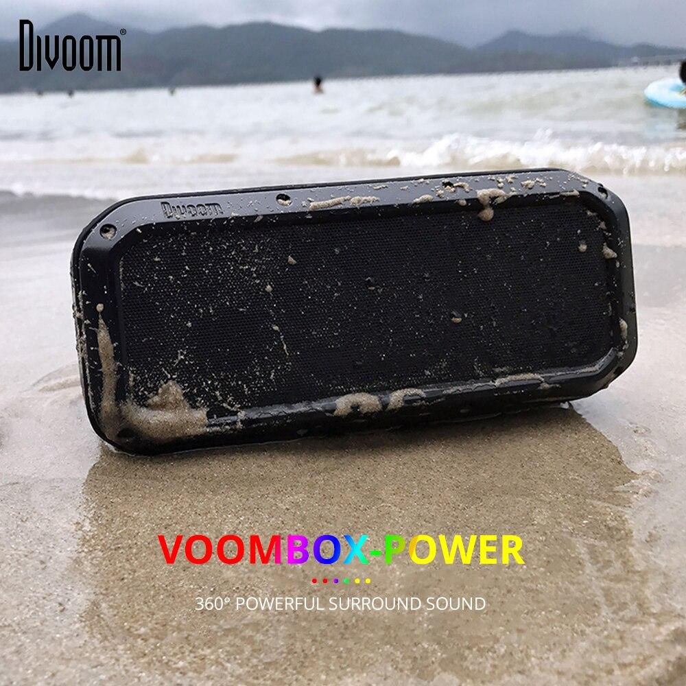 Divoom Voombox puissance sans fil haut-parleur Portable Bluetooth haut-parleur TWS 30 w basses lourdes NFC 10 m avec 6000 mAh et IPX5 étanche