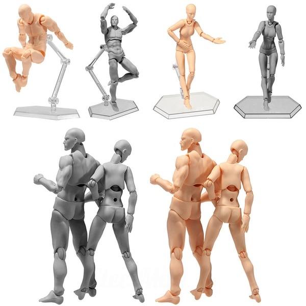 SHFiguarts BODY KUN BODY CHAN DX Set PVC Anime Archetype He She Ferrite Figma Movable Action Figure Model Miniatures Toys Doll(China)