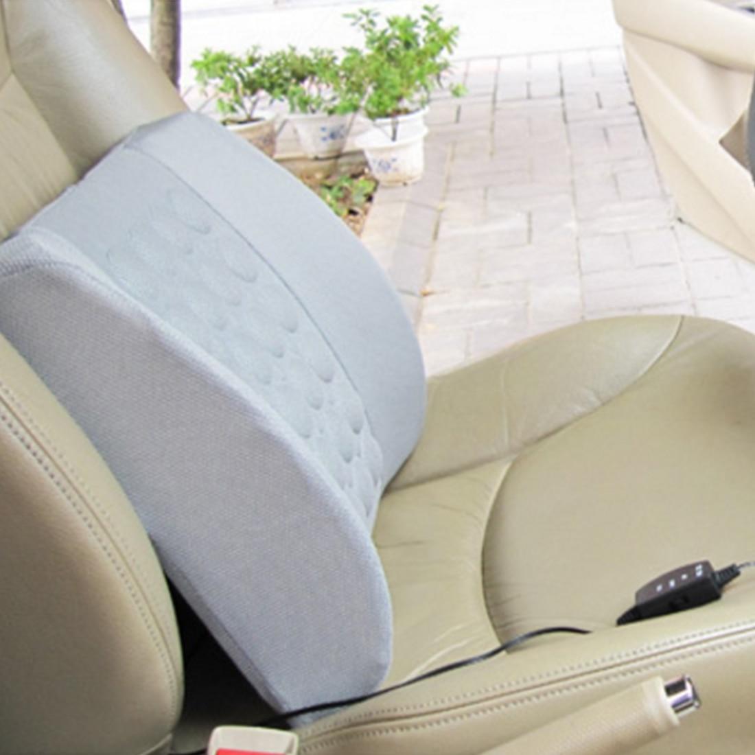 ᗔMultifuncional eléctrico coche soporte lumbar masaje Cojines ...