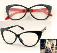 2019 Limited Gafas Eye Glasses Frames Fashion Choice Cat's Shape Plain Glass Spectacles Women Eyeglasses Decorations Optical