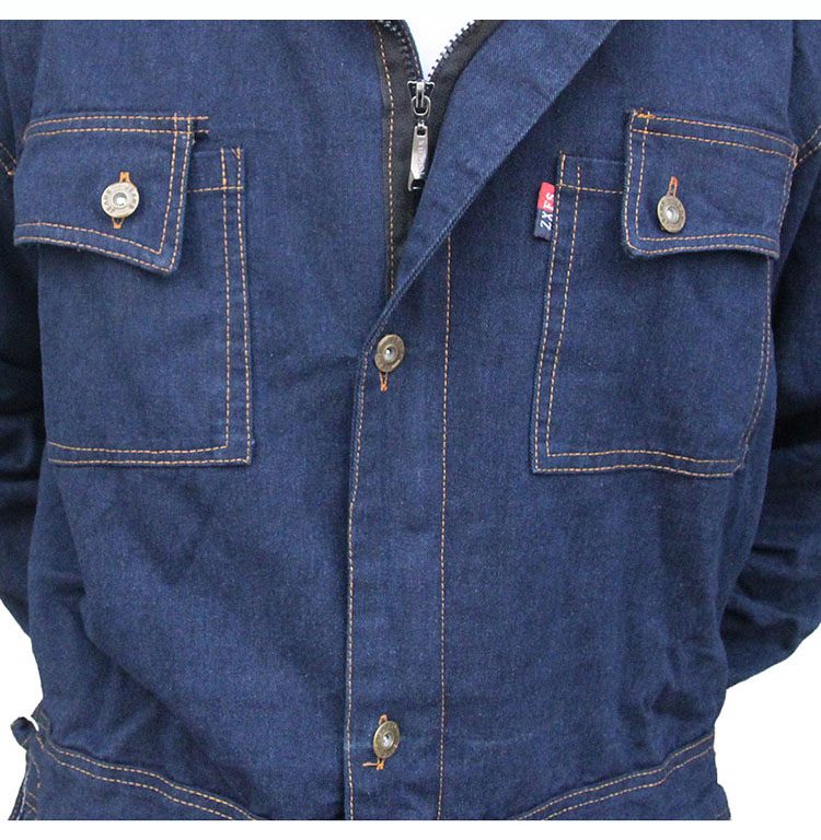 ... CCGK Mens Overalls Denim Work Clothing Hooded Coveralls Plus Size Labor  Overalls For Worker Machine Welding ... 0917160d146d