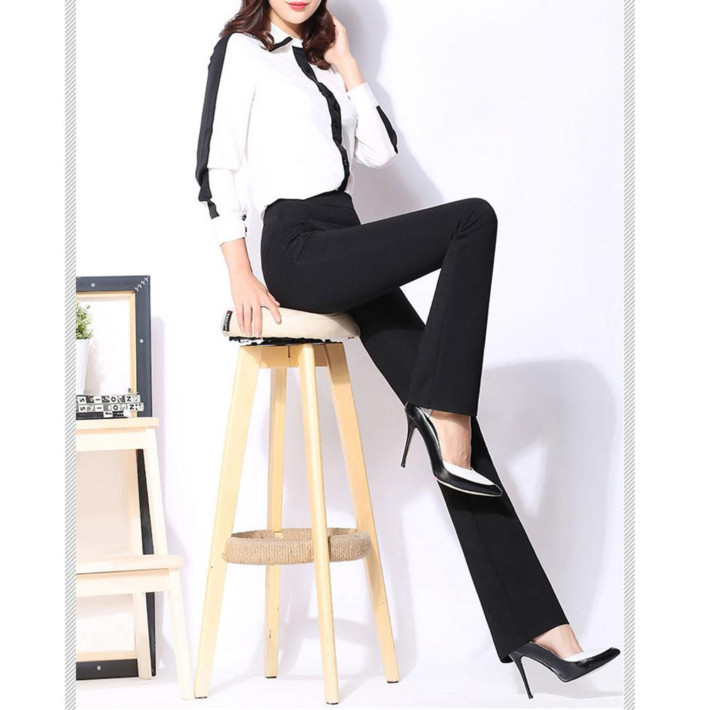 1b254ffd2d735 2018 New Women Stretchy Boot Cut Trousers Slimming Straight leg Stretch  Fashionable Versatile High Waist Stretch Flare Trousers-in Pants   Capris  from ...