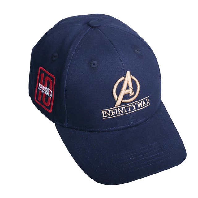 2a2388ef 2018 Movie Avengers: Infinity War Accessories Hat Caps 10th anniversary cap  Hat Souvenir Embroidery Hat Baseball 100% Cotton