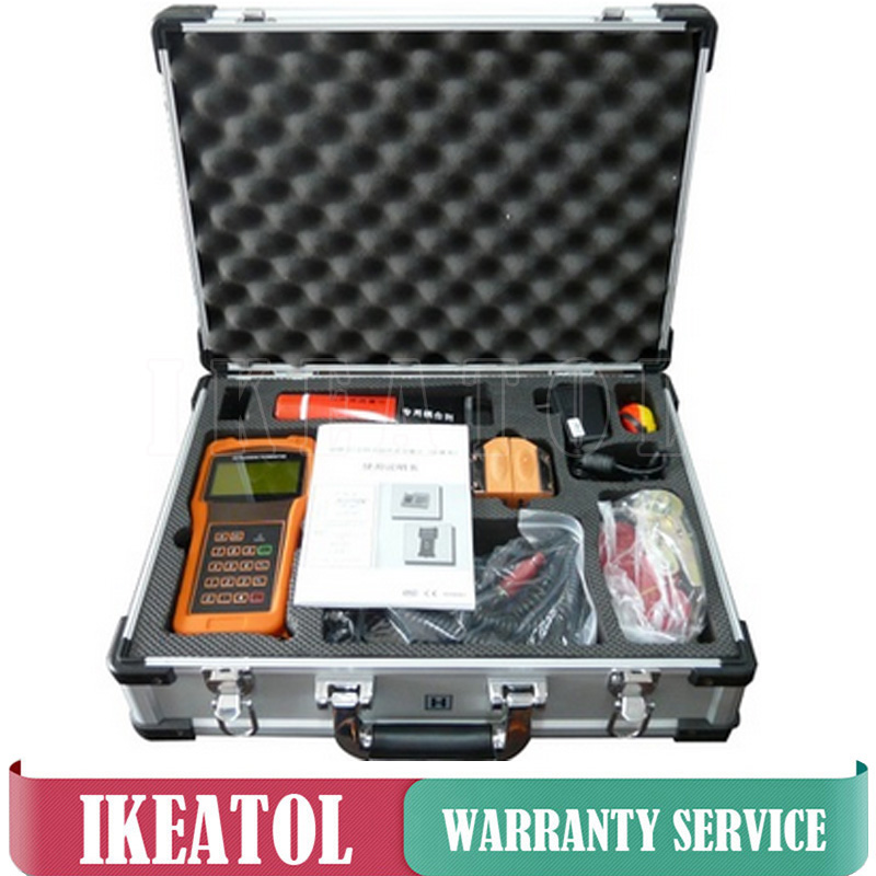 Digital Portable TUF 2000H TS 2 HT Transducer DN15 100mm Ultrasonic Flow Meter Flowmeters in Flow Meters from Tools