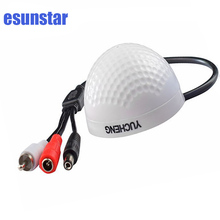 High Sensitivity Audio Pickup Input Mini CCTV Security Surveillance Microphone with Low Noise Clear Natural Voice