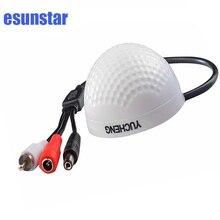 Mini micrófono de vigilancia de seguridad CCTV, entrada de recogida de Audio de alta sensibilidad, con voz Natural clara de bajo ruido