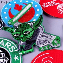 Prajna Star Wars Patch DIY Embroidered Patches for Clothing Iron on Cloth Badge 9 3/4 Tickets Stripe Applique Decor F