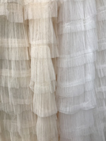 Exquisite Ivory Layers Mesh Lace Fabric 51.2 Wide Tulle Ruffles Fabric Linen Textile Bridal Dress Fabric Sewing Patchwork