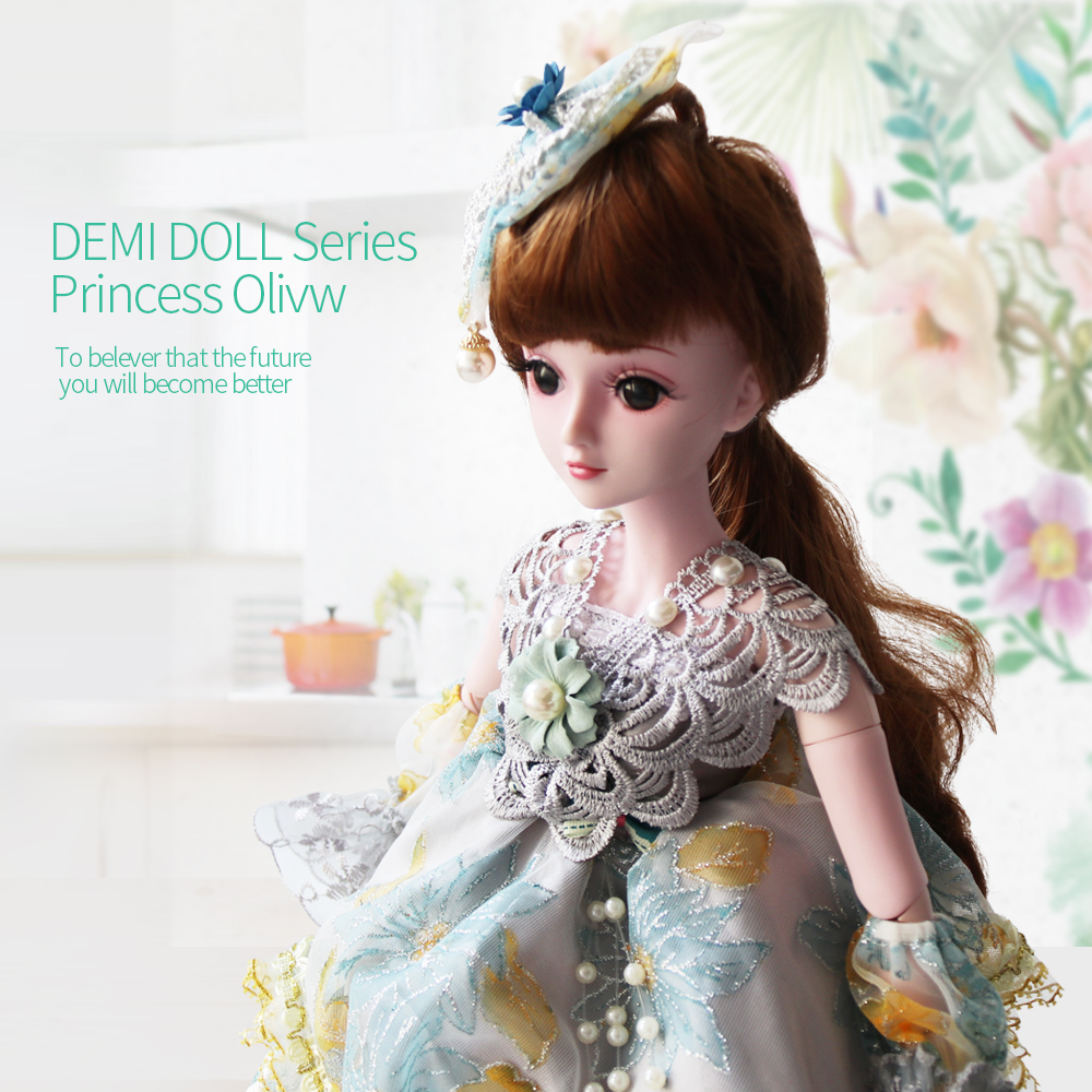 UCanaan 1/3 23.6 inch 60cm Jointed Doll BJD SD Dolls 19 Joints Movable Gift Toy + Woven in Hair + Shoes + Eyelash цена