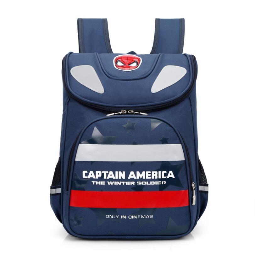 d258e4e9d591 2019 детский ортопедический школьный портфель детский рюкзак Человека-паука  для девочек PU Hasp Randoseru японский стиль детские школьные рюкзаки с.