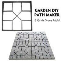 Practical Reusable Durable DIY Path Maker Mold Plastic Path Maker Mold Square Shape Concrete Stepping Stone Cement Mould Brick