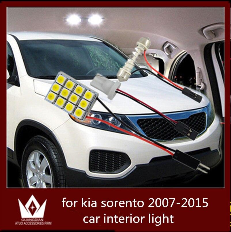 Guang Dian car led light interior light dome vanity light trunk cargo lamp kit T10 festoon  for  for sorento 2007-2015 guang dian car interior lamp roof bulb