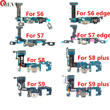 USB Charger Charging Dock Port Connector Flex Cable For Samsung S6 S7 edge S8 S9 plus G920 G925F G930F G935F G950 G955F cheap USB Charging Dock OMEVE