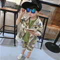 2016 Boys Clothing Set Children Sport Suits Kids Cotton Clothes Set Boy Camouflage Coat Short Pant Army Green T Shirt 3pcs Set