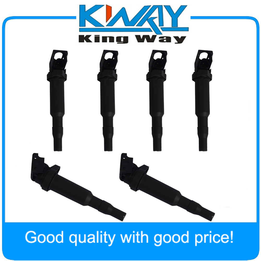 6 Pcs/set  Ignition Coils Fits for BMW E46 E53 E60 E70 E85 E90 325i 330i 535i 550i 650i 750i