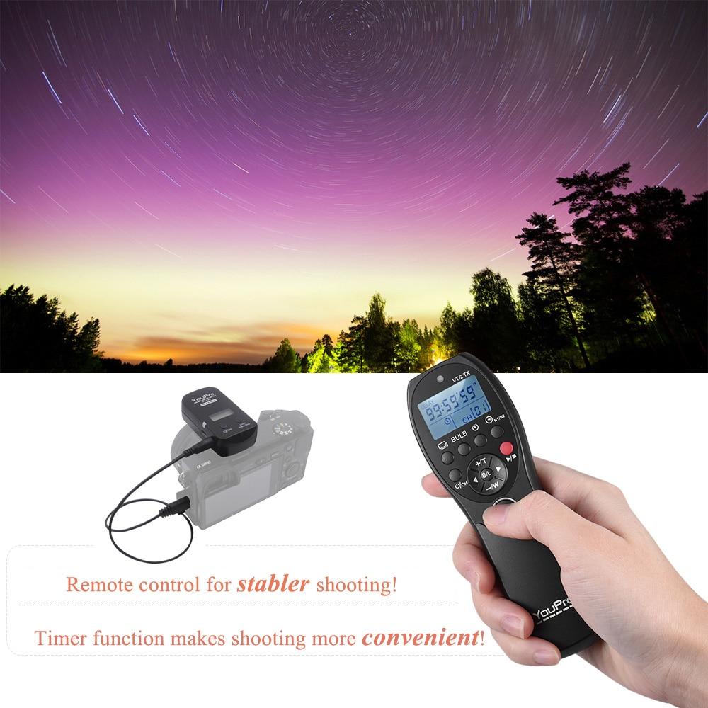 Image 5 - YouPro VT 2 Wireless Remote Control Commander LCD Timer Shutter  Release Video Transmitter Receiver for Sony Camera Camcordershutter  releasetimer shutterlcd timer