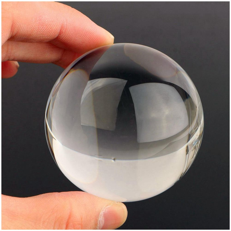 60mm Clear Acrylic Ball Natural Environmental Transparent Contact Manipulation Professional Juggling Ball Gifts For Magic Show