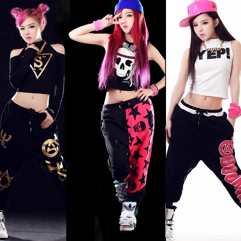 jazz dance costumes hip hop clothing suits ds female