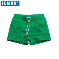 IEMUH Brand Summer New Casual Shorts Men Fit Solid 7 Color Available Shorts Loose Elastic Waist