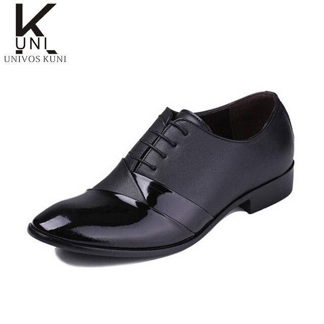 715edcdf4 2016 moda Skórzane buty męskie sznurowane oxford buty buty ślubne moda  casual marka tenis masculino sapatos