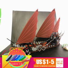 16018 756Pcs The lord of rings Series Ghost pirate ship set Rapid Model Building Block compatible with 79008 Gift toys