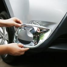 цена на For Toyota RAV4 accessories 2014 2015 ABS Chrome Car front fog lamp Decoration frame sticker Cover Trim car styling 2pcs