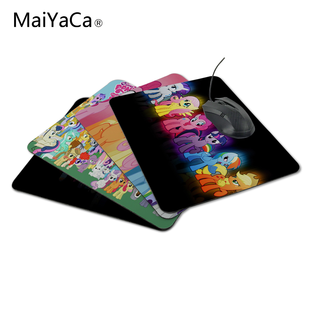 лучшая цена MaiYaCa My Little Pony Computer Mouse Pad Mousepads Decorate Your Desk Non-Skid Rubber Pad 220mmX180mmX2mm&250mmx290mmx2mm