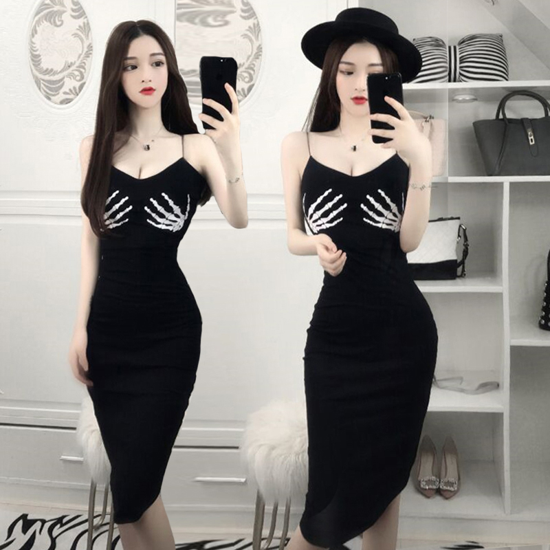 1d39372b6 best top 10 skeleton hand print dress ideas and get free shipping ...
