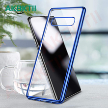 AKBKTII for Samsung S9 Case clear soft TPU silicone case Galaxy S10 plus m20 Note 9 coque S8 cover