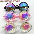 NK Retro Round Kaleidoscope Sunglasses Men Women Designer Kaleidoscope Men Glasses Cosplay Goggles Or Fashion Party Mask