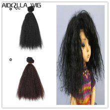 AIDOLLA  15*100cm Synthetic Hair Extensions For 1/4 bjd Dolls Wig Hair For DIY Doll Wig Hair Doll Accessories все цены