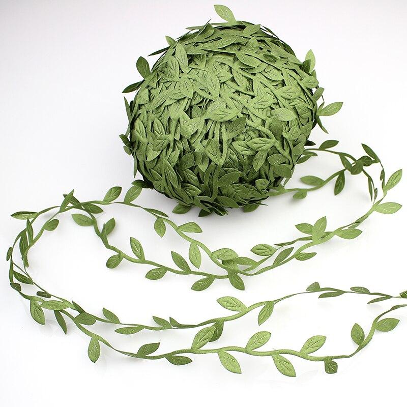 200 m verde Artificial hojas de las flores de la rota Garland coronas accesorios