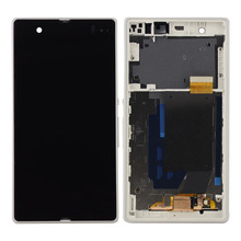 For Xperia Z L36h LCD C6606 C6603 C6602 C660x C6601 LCD Display + Touch Screen Panel with empty frame Free Shipping